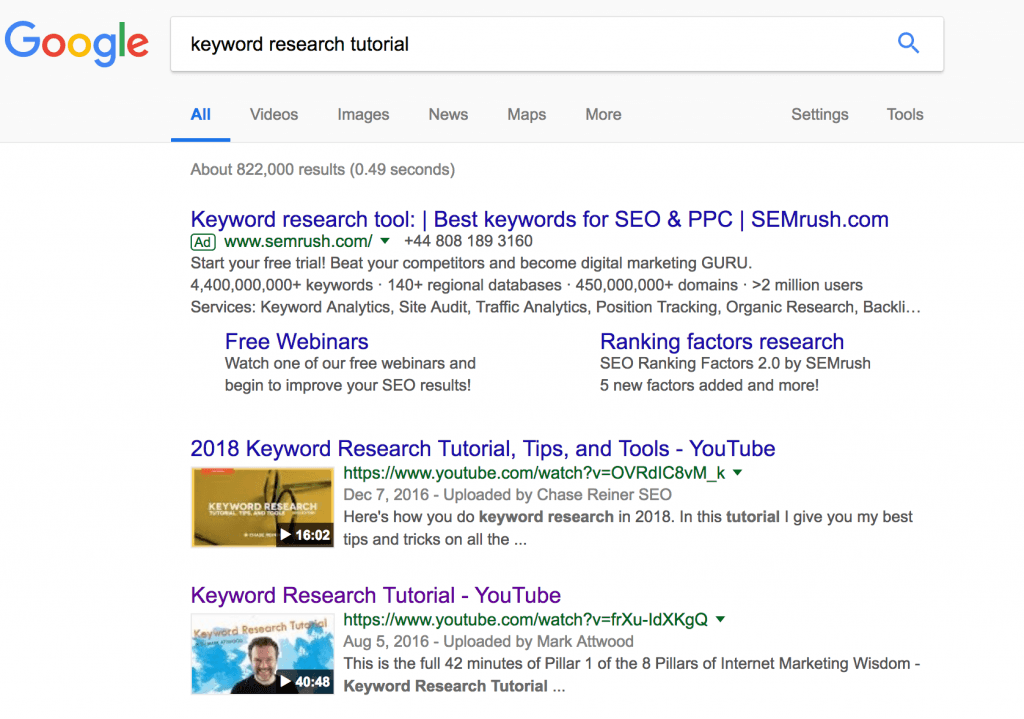 keyword research tutorial by markattwood.com